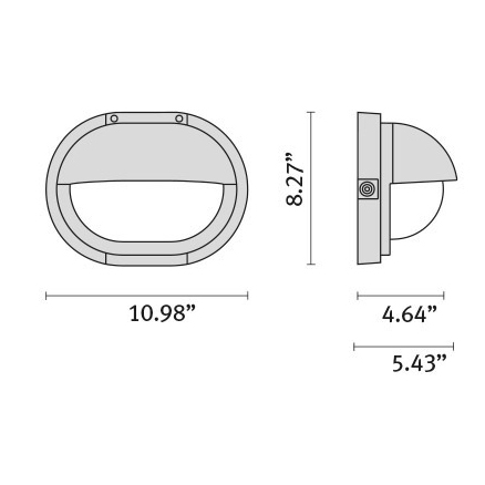 "Tech Design MAGICLICK OVAL SHADE H LED [8.27""]"