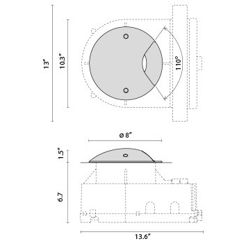 Tech Design STEEL ROUND COMPACT LED 90°