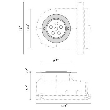Tech Design STEEL ROUND COMPACT LED I 8°