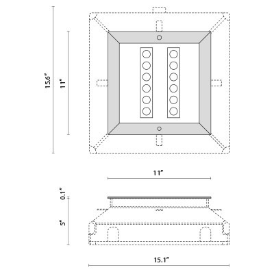 Tech Design STEEL SQUARE 28 - 12 LED ELL 10°X45°
