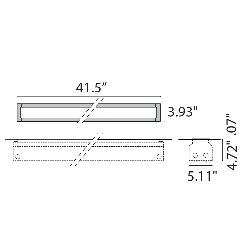 "Tech Design STRIP SQUARE INGROUND LED 1050  [41.5""]"