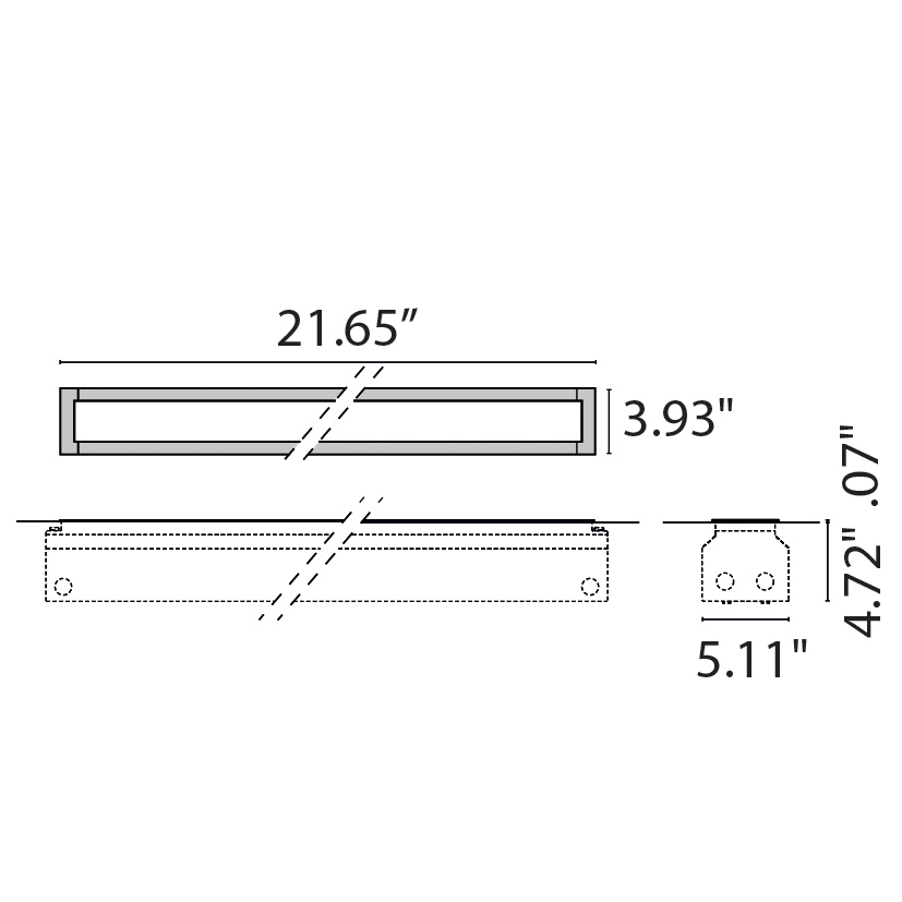 "Tech Design STRIP SQUARE INGROUND LED 550  [21.65""]"