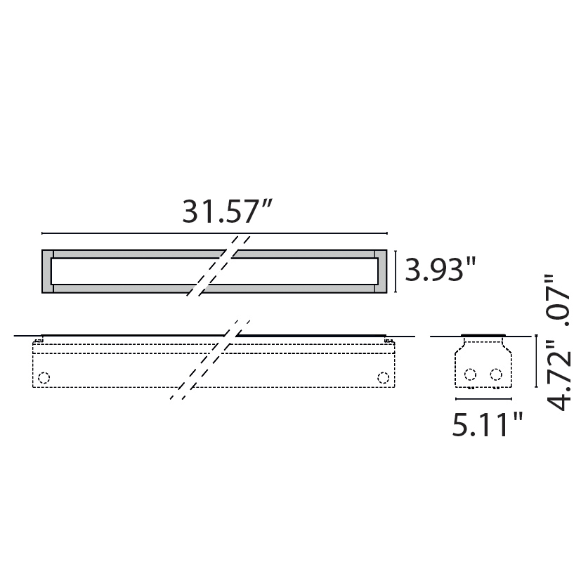 "Tech Design STRIP SQUARE INGROUND LED 800  [31.57""]"