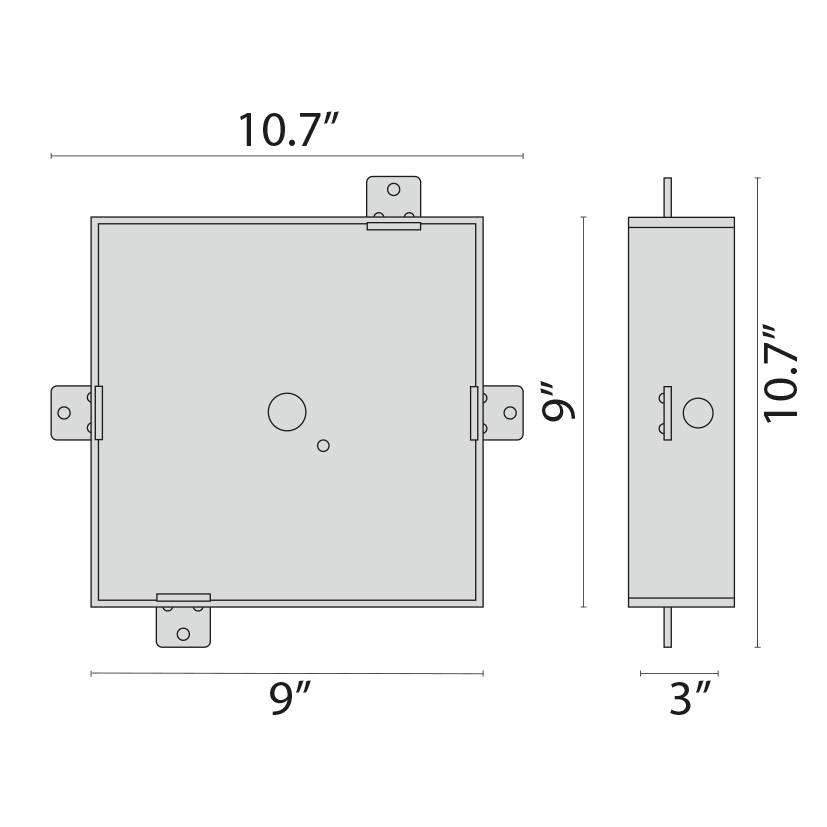 Recessed Alu Tech Square