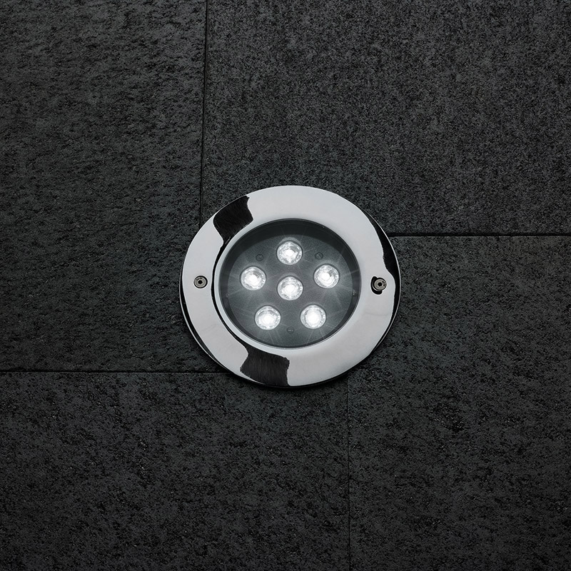 STEEL ROUND COMPACT LED I 8°