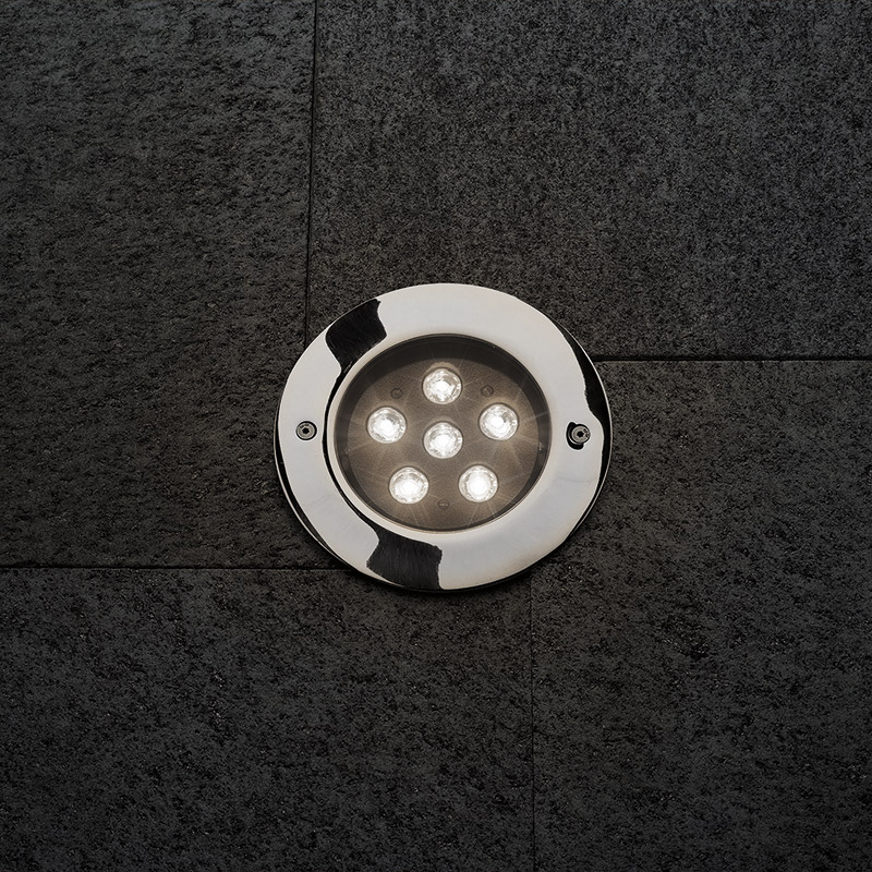 STEEL ROUND COMPACT LED ELL 10°X45°