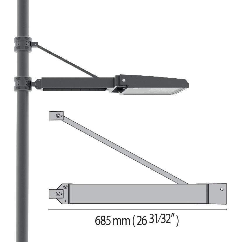 Pole arms for SQUARE+2