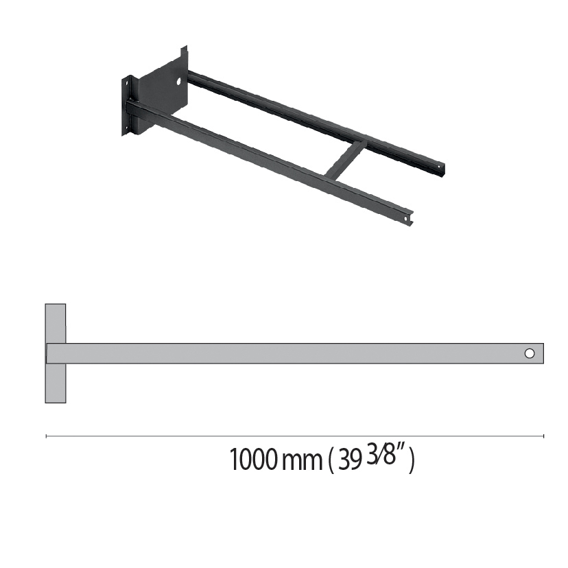 Wall-mounting arm SQUARE+2