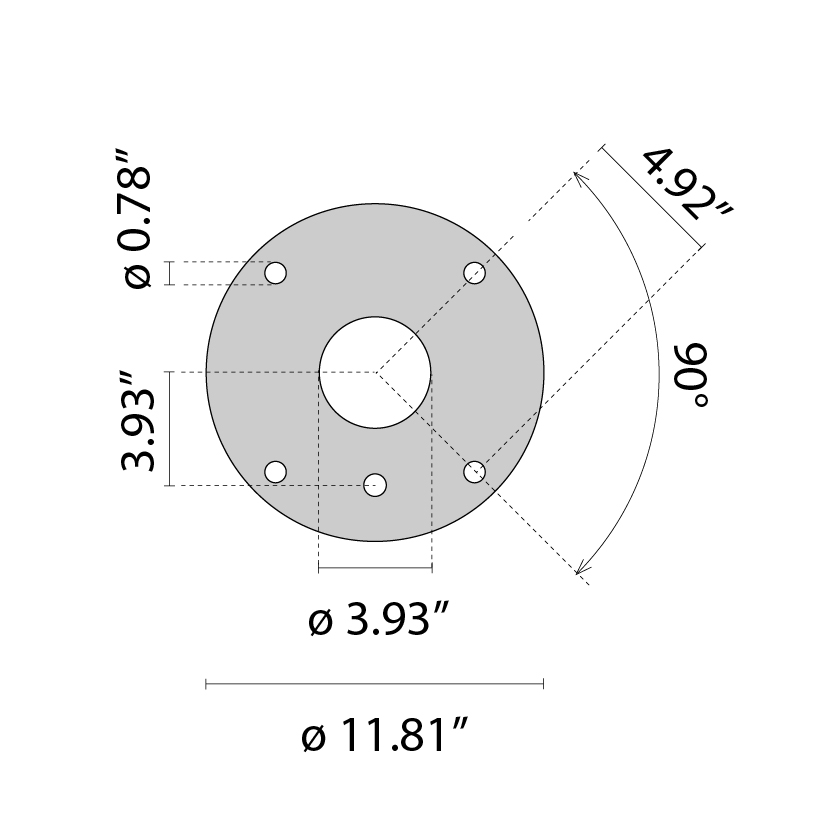 Base plate/1 F.T. post