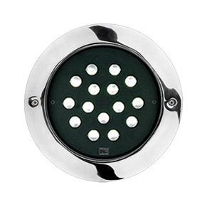 STEEL ROUND MAXI COMPACT LED ELL 10°X45
