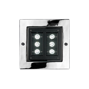 STEEL SQUARE 20 - 6 LED ELL 10°X45°