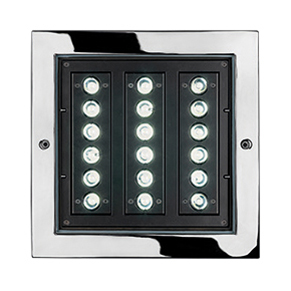 STEEL SQUARE 28 - 18 LED ELL 10°X45°
