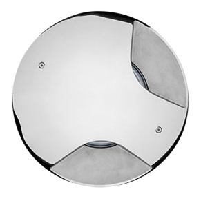 STEEL ROUND MAXI COMPACT LED 180°
