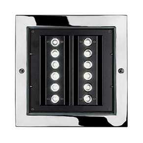 STEEL SQUARE 28 - 12 LED ELL 10°X45°